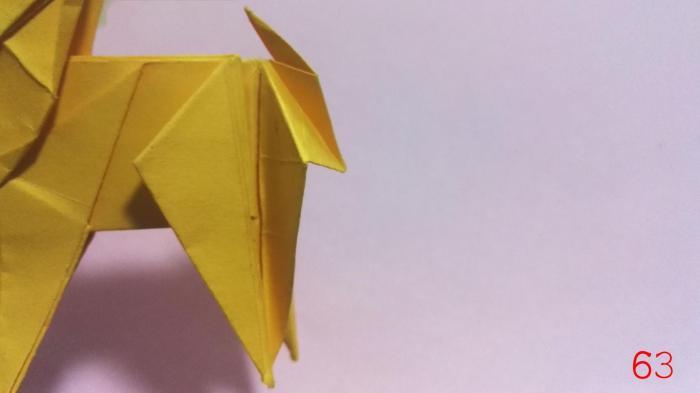 手工折纸圣诞鹿制作方法步骤图解
