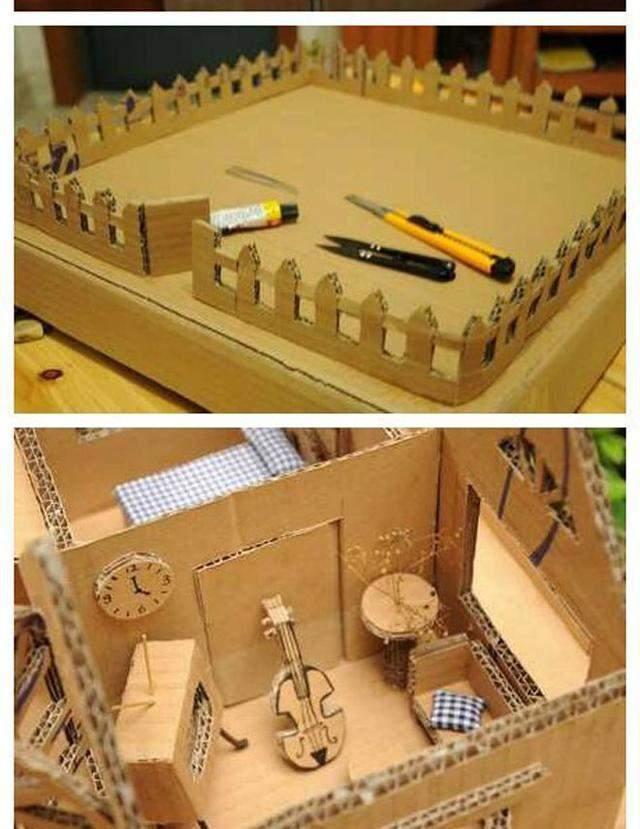 紙箱改造成的小房子,給小朋友特有愛!