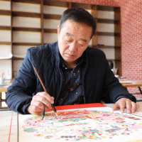 传统年画老艺人