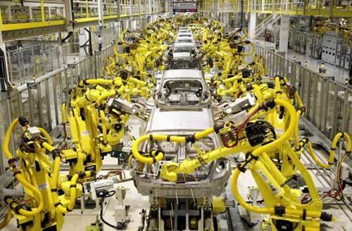 工业机器人自动化生产车间