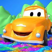 汽车城儿童工程卡通