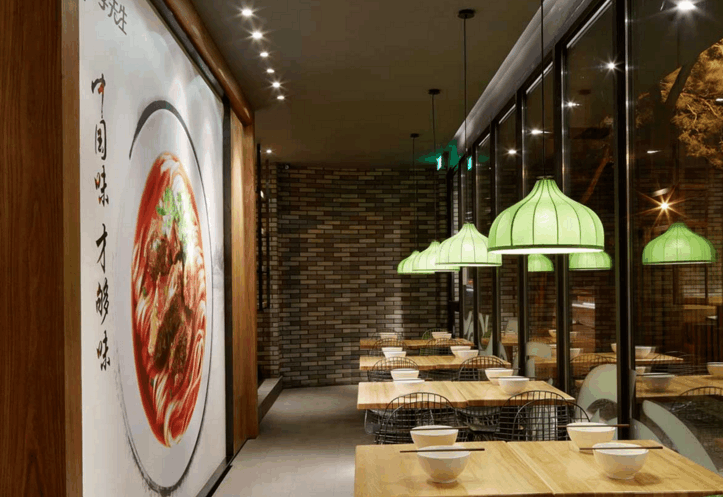 從牛肉面餐廳平面布局設計,來看裝修施工效果,對生意影響有多大