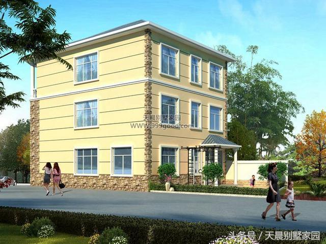 新農村歐式小別墅,開間9.3米采光好,造價30萬,經濟適合農村蓋