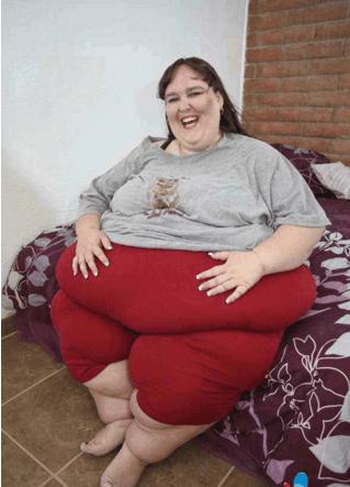 世界上最胖的人_世界上最胖的女人: 体重1500斤, 饭量是常人的15倍