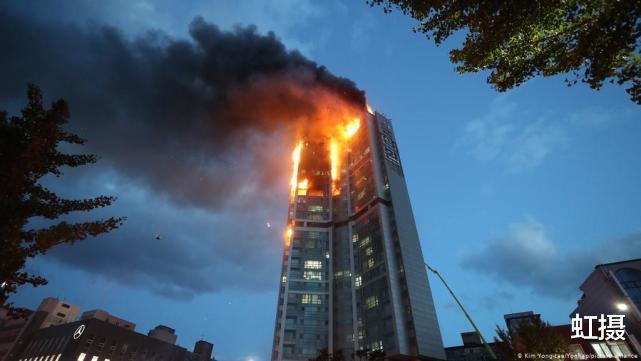 韓國33層高樓起火,瞬間變火炬!雲梯消防車趕來,比導彈車還大-圖3