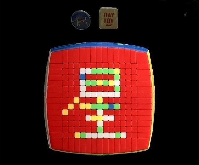 1734塊!肖戰粉絲用15階魔方拼字,祝福肖戰DAYTOY星途坦蕩-圖6