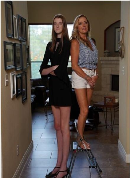 """美國出現一""""變態長""""少女,身高達到兩米,雙腿長度破吉尼斯紀錄-圖4"""