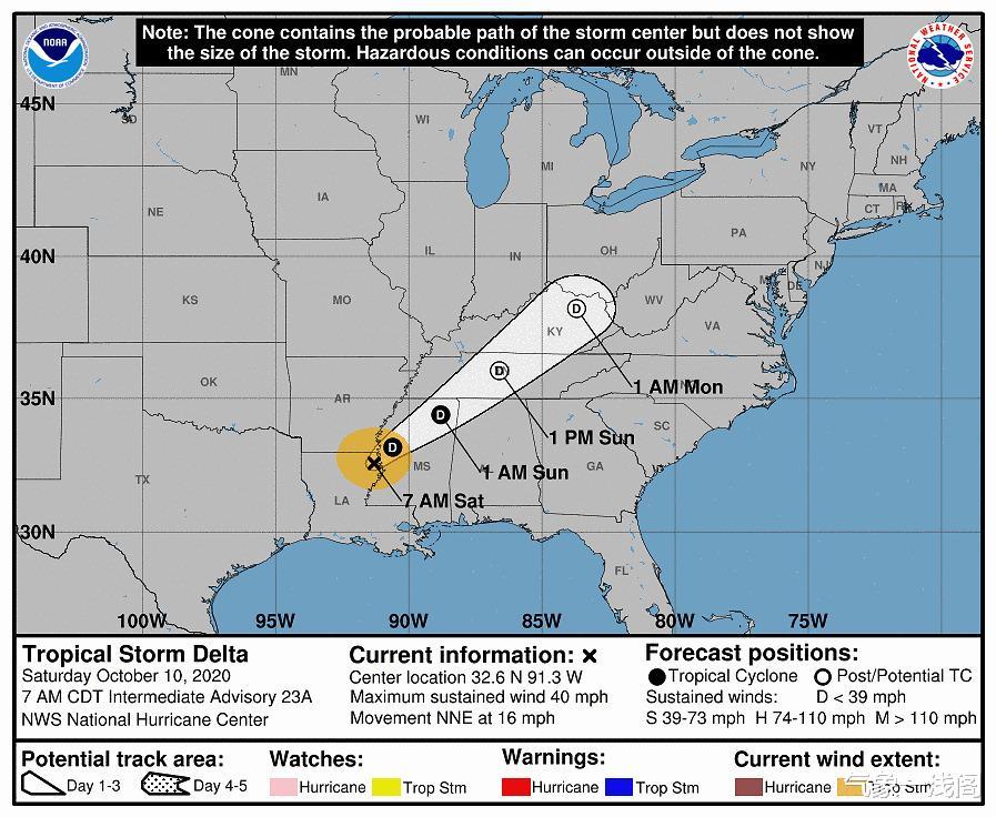 德爾塔登陸,雲系覆蓋美國14州,北美新冷渦又啟動,暴雨暴雪齊來-圖3
