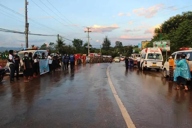 撣北支援隊伍從臘戌出發奔赴緬甸仰光-圖2