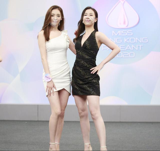 2020香港小姐15強結果出爐,眾佳麗戴透明口罩現身發佈會爭奇鬥艷-圖5