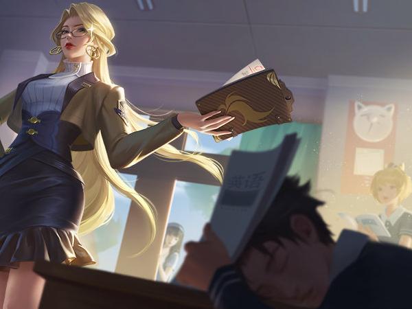 雅典娜教師皮膚曝光!你們隻顧著看學生裝的孫臏曜,有誰註意到後面的女英雄-圖3