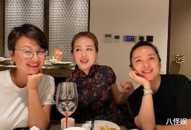 靳東老婆與妹妹合影,素顏笑出一臉褶,妹妹打扮貴氣美貌不輸姐姐-圖3