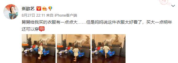 華晨宇給張歆藝兒子買T恤,看到價格,網友:貧窮限制瞭想象-圖2