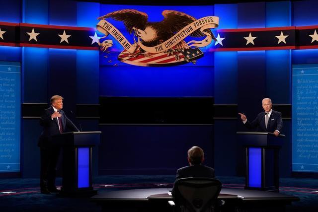 """美首場總統辯論特朗普總打斷拜登,拜登忍不住說""""你能閉嘴嗎""""-圖2"""