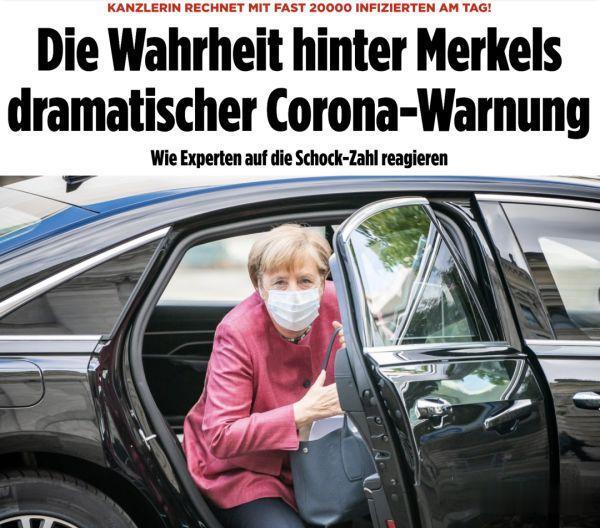"""默克爾所說的""""德國將日新增近2萬例""""是聳人聽聞還是數據有誤?-圖2"""