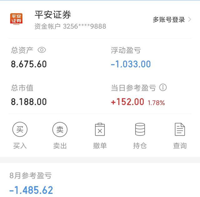 今日基金收益340元,股票150元,累計收益490元,本月還虧損1100-圖2