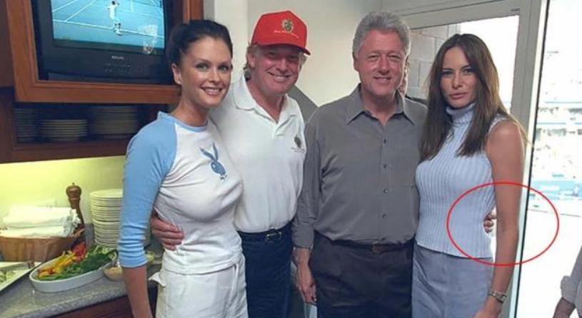 克林頓15年前參加特朗普婚禮,手摟梅拉尼婭,讓新娘都害羞瞭-圖5