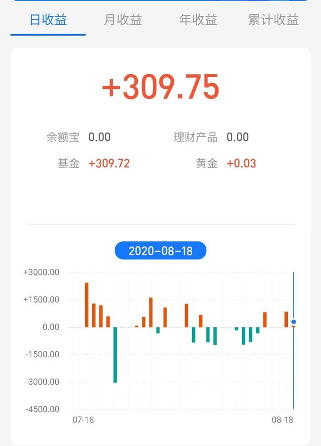 今日基金收益340元,股票150元,累計收益490元,本月還虧損1100-圖3