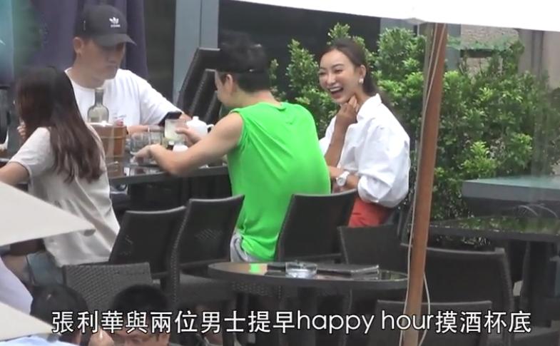 魏駿傑前妻穿深V短裙化身交際花,無縫銜接約3男喝酒熱聊-圖5