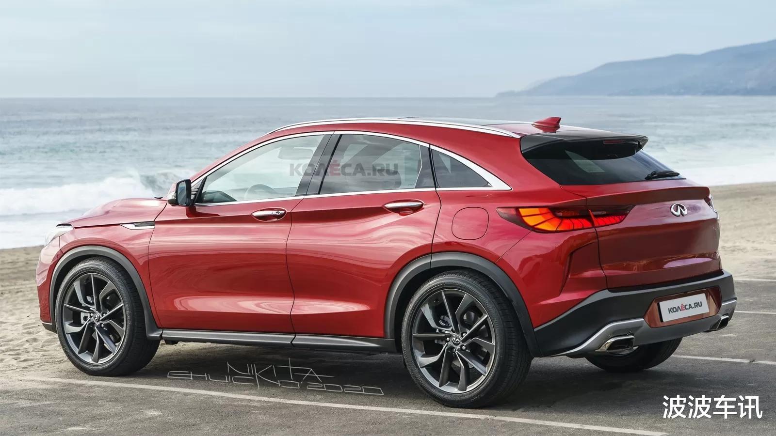 英菲尼迪QX55渲染圖曝光,定位轎跑SUV,采用運動化的設計-圖3