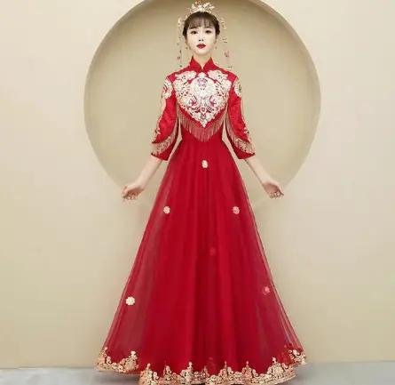 心理測試: 4款古風嫁衣,你最想穿哪一件?測你另一半是哪種類型-圖4