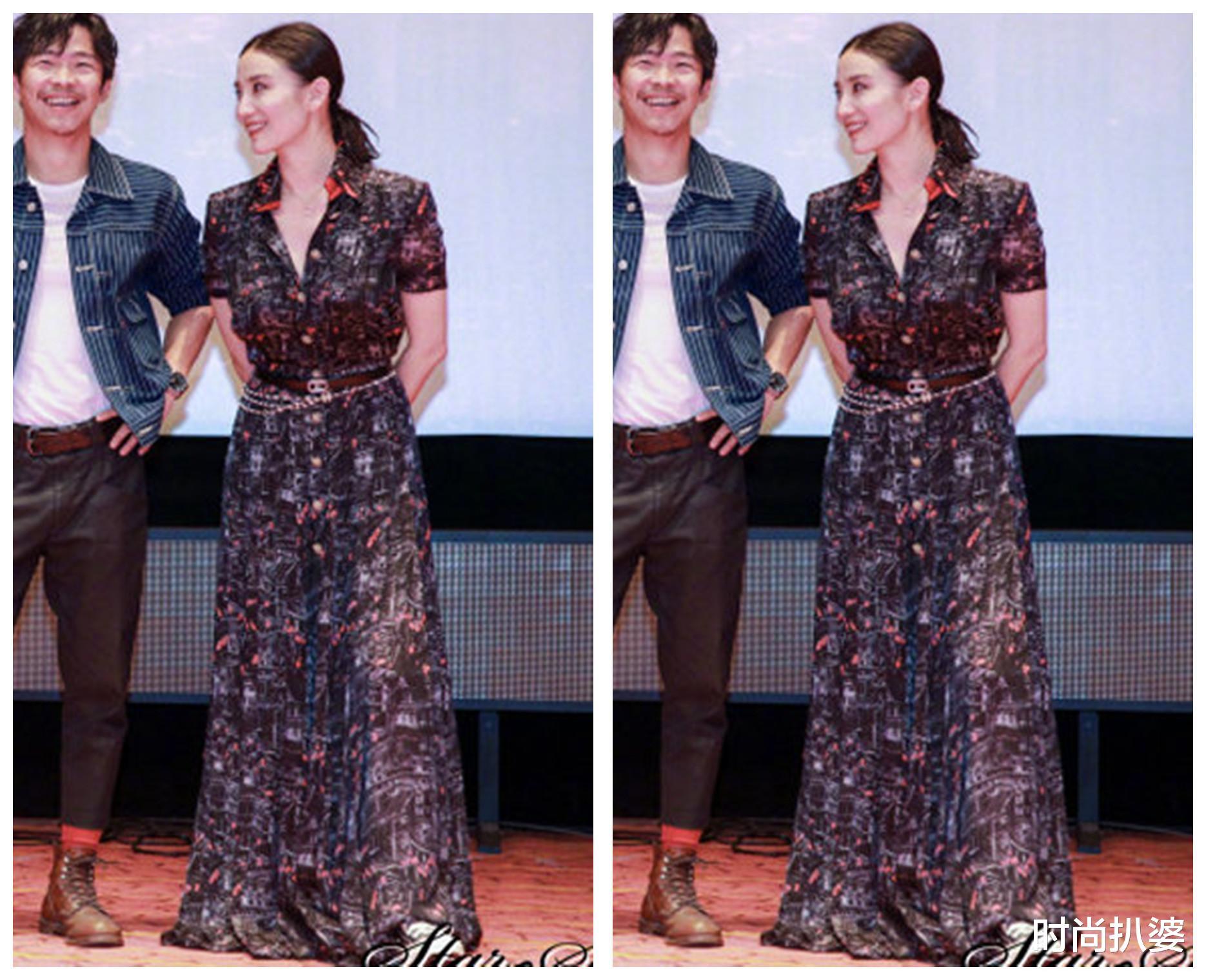 紅毯造型,49歲閆妮秀身材卻被妝容扣分,袁姍姍挑戰熱巴同系列人魚裙翻車-圖4
