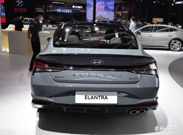 新款現代伊蘭特亮相北京車展,油耗5.2L配大溜背,10.98萬帶國六-圖6