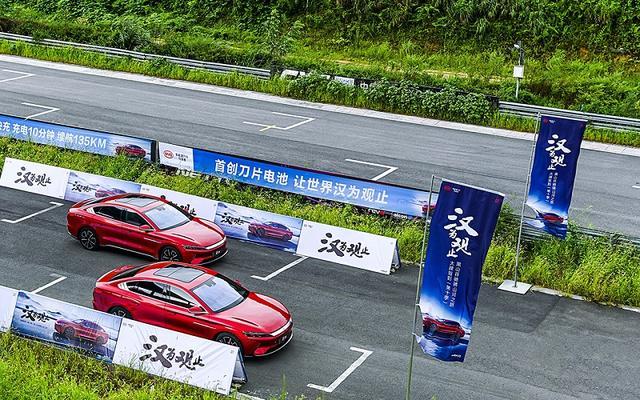 試駕、提車都排隊,跟性能好又安全的比亞迪漢EV跑完賽道知等得值-圖7
