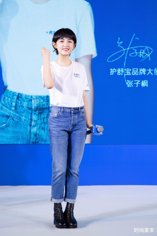 張子楓和孫儷妹妹成同學,代言運動品牌,白色羽絨衣秀冬季時尚-圖8