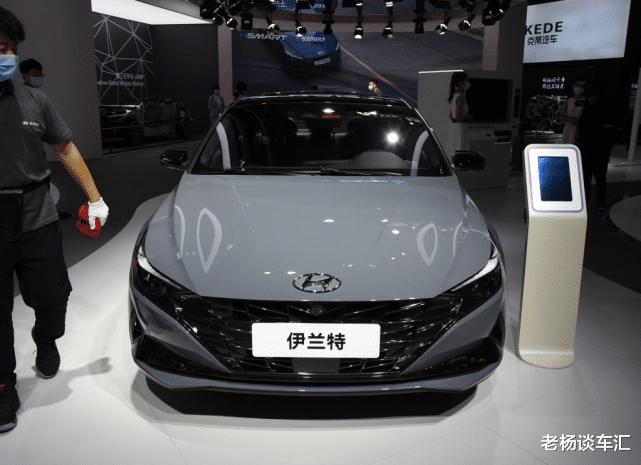 新款現代伊蘭特亮相北京車展,油耗5.2L配大溜背,10.98萬帶國六-圖9
