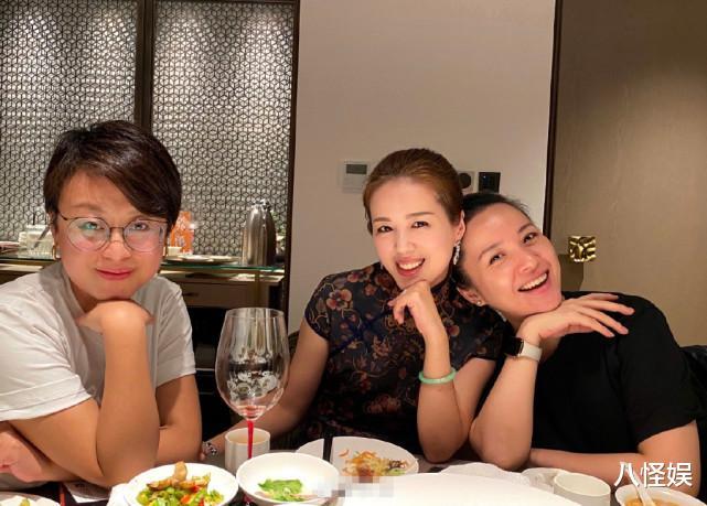 靳東老婆與妹妹合影,素顏笑出一臉褶,妹妹打扮貴氣美貌不輸姐姐-圖4