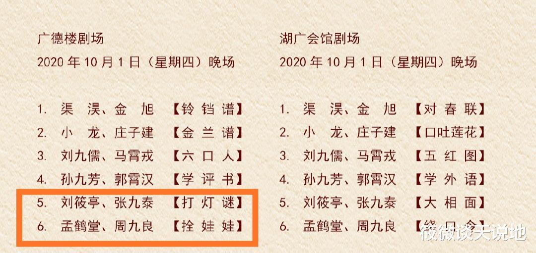 德雲社發佈演出節目單,亭泰堂良終開箱,九熙登臺新搭檔引關註-圖3