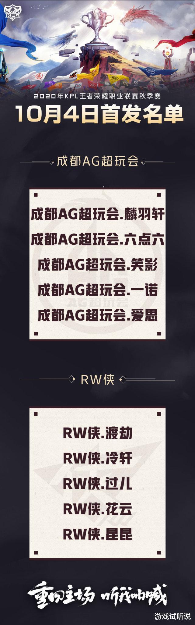 """AG對陣RW首發再次調整,麟羽取代七年!粉絲質疑月光真的存在""""私心""""?-圖5"""