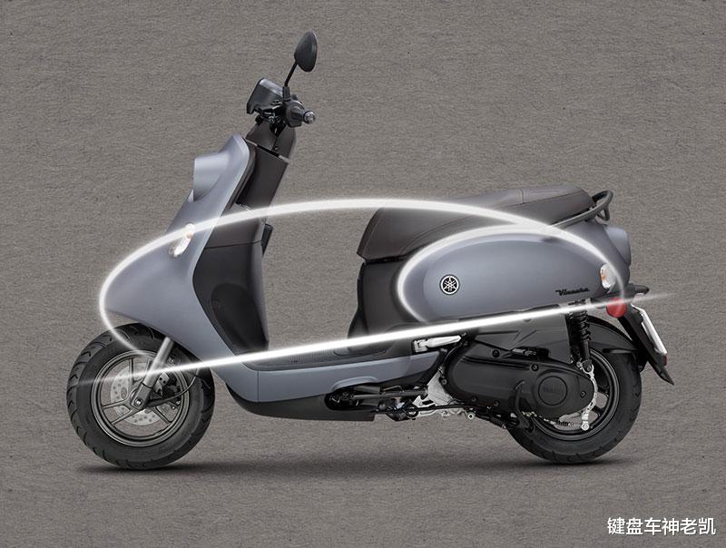 雅馬哈發佈新復古踏板Vinoora 125,外觀猶如呆萌青蛙-圖4