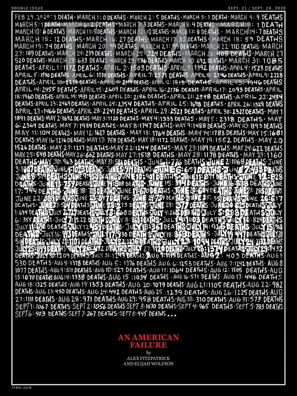 美國時代周刊又一封面,展現疫情籠罩下的美國-圖3