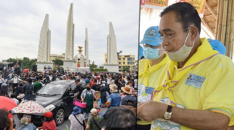 國王專車通過抗議人群……全球媒體關註泰國大遊行!-圖4