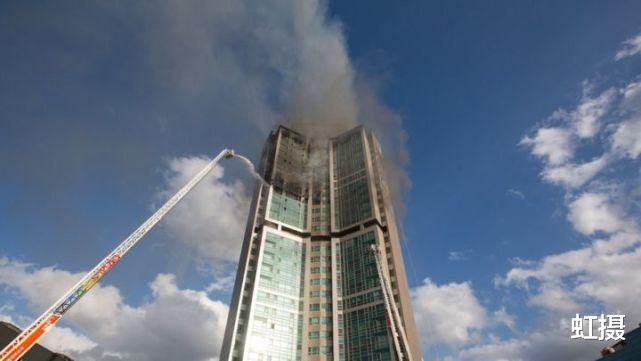 韓國33層高樓起火,瞬間變火炬!雲梯消防車趕來,比導彈車還大-圖10