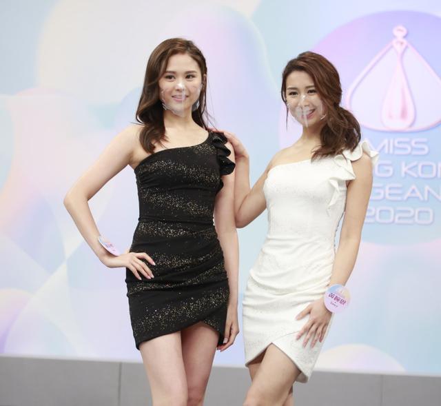2020香港小姐15強結果出爐,眾佳麗戴透明口罩現身發佈會爭奇鬥艷-圖7