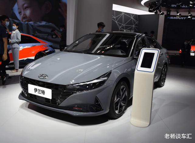 新款現代伊蘭特亮相北京車展,油耗5.2L配大溜背,10.98萬帶國六-圖3