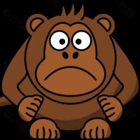 小猴子剪影