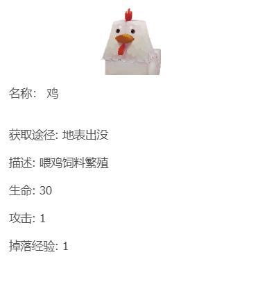 宝物猎人_迷你世界动物攻略:鸡原来可以创造这些东西,农场主一定要看-第2张图片-游戏摸鱼怪