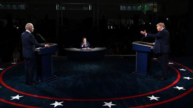 """美首場總統辯論特朗普總打斷拜登,拜登忍不住說""""你能閉嘴嗎""""-圖3"""