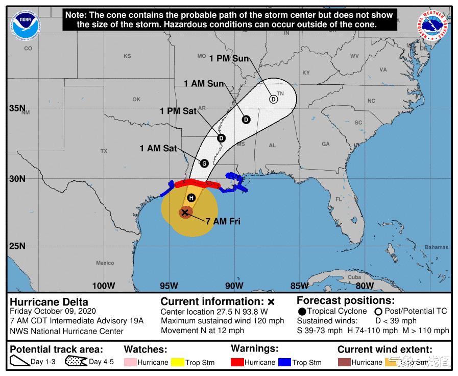 再次增強到16級,風暴德爾塔或馬上登陸,大暴雨紮堆襲擊美國-圖4