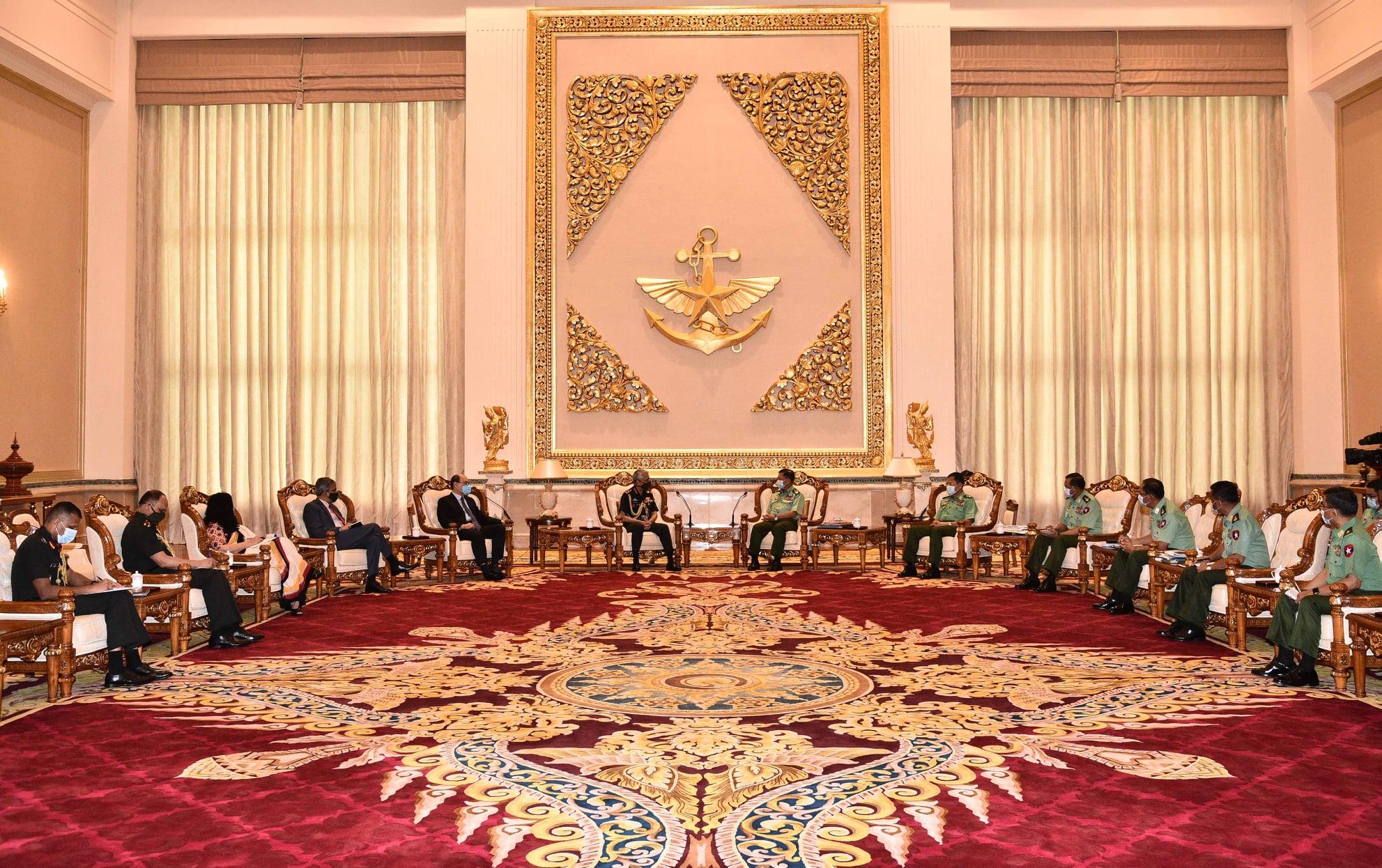 緬軍總司令敏昂萊同印度陸軍參謀長馬諾傑·納拉瓦內會談-圖2