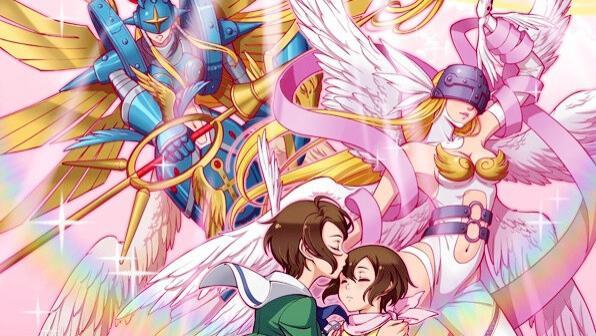 数码宝贝:女性天使系数码兽巅峰,慈爱的光明女神,黑暗系数码兽克星