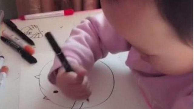 3岁女童涂鸦走红,看似随便成品惊艳,网友:莫不是忘喝孟婆汤了
