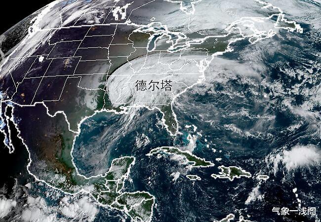 德爾塔登陸,雲系覆蓋美國14州,北美新冷渦又啟動,暴雨暴雪齊來-圖4