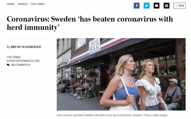 外媒刷屏:瑞典成功打敗新冠,群體免疫成功!所有其他國傢都錯瞭-圖7