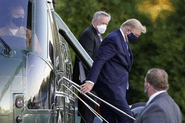 剛曝出感染新冠就入院治療!美媒集體質疑:特朗普真的隻是輕癥嗎?-圖3