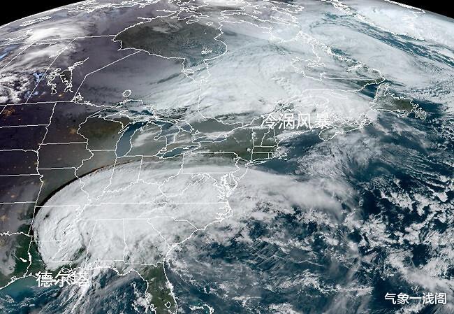 德爾塔登陸,雲系覆蓋美國14州,北美新冷渦又啟動,暴雨暴雪齊來-圖2